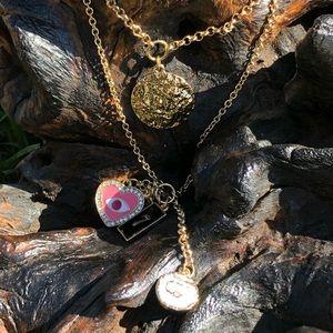 Gorjana Layered Leo Zodiac Charm Necklace Evil Eye